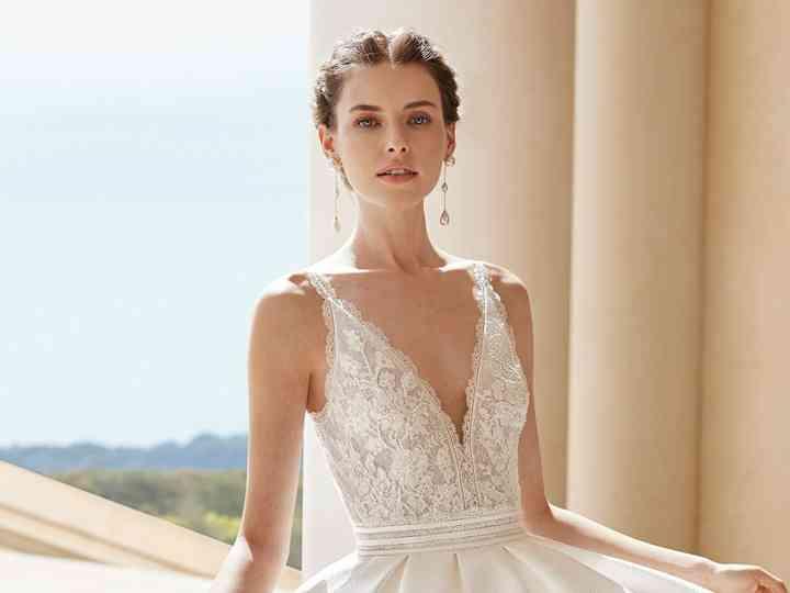 vestido novia escote V
