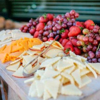 detalle de la comida de una slow wedding
