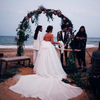 momento de la ceremonia de Dulceida y Alba