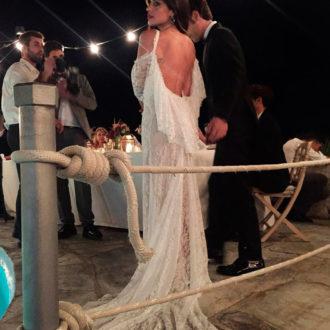 Dulceida luciendo el segundo vestido de su boda