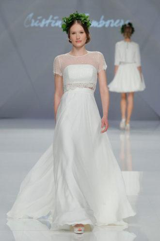 novia con vestido de Cristina Tamborero