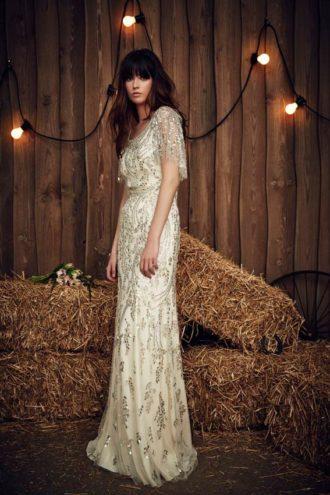 novia con vestido de Jenny Packham