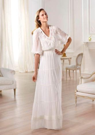 novia con vestido Omaira de Pronovias