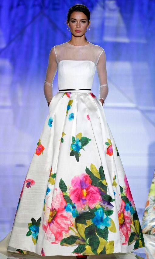 vestidos de novia con estampados florales   vestidosdenovia