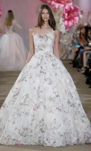 novia con vestido estampado de Inés DiSanto