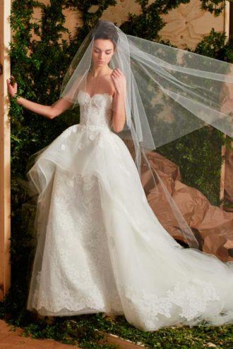 novia con vestido de Carolina Herrera