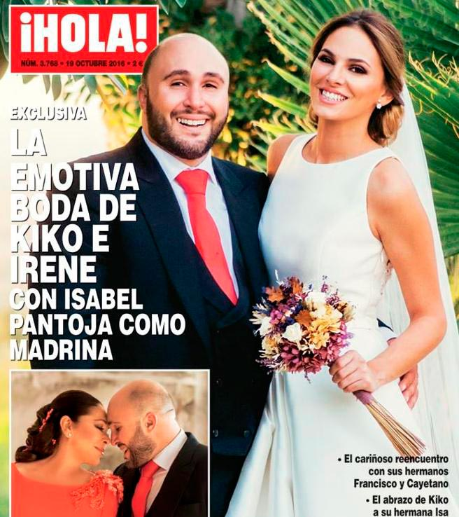 portada de la revista ¡Hola! de Kiko Rivera e Irene Rosales