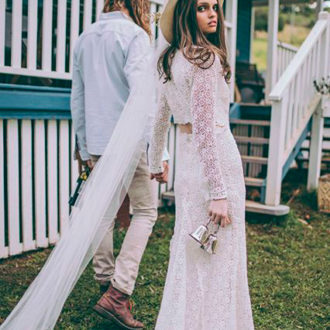 novia con pamela en color crudo