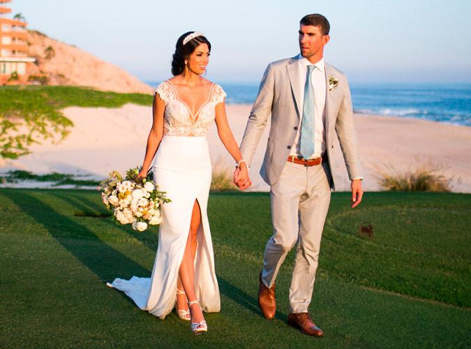 Michael Phelps y Nicole Johnson recién casados, imagen del Instagram de Nicole