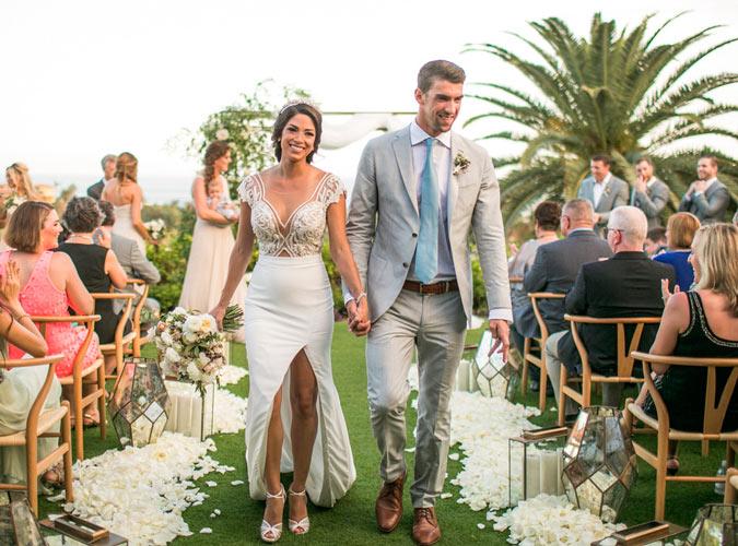 Michael Phelps y Nicole Johson recién casados, imagen del Instagram de Michael Phelps