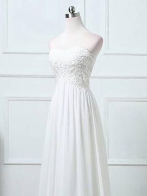 vestido novia linea a encaje y tul